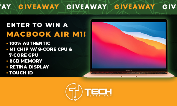 online contests, sweepstakes and giveaways - Enter To Win A 2020 Macbook Air M1 13″